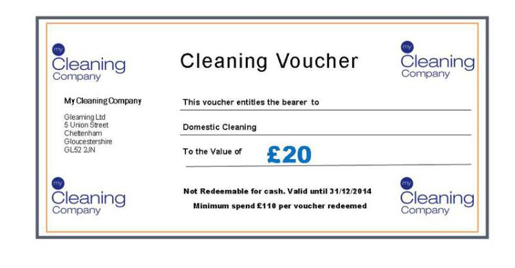 Cleaning Vouchers